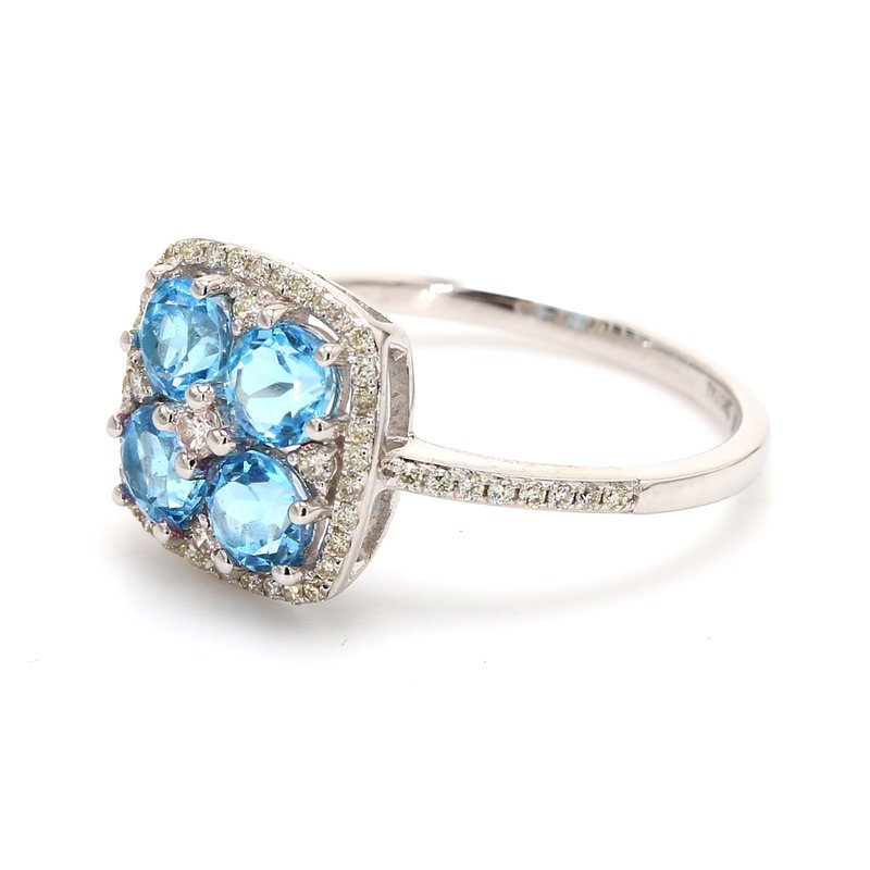 Color by Spicer Greene Topaz Halo Ring