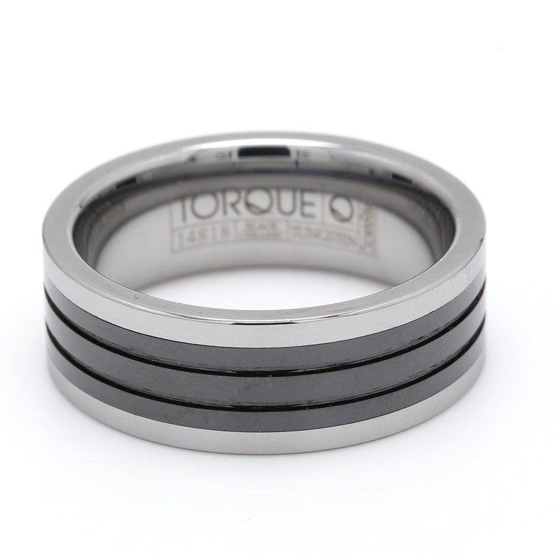 Torque Tungsten & Ceramic Wedding Band