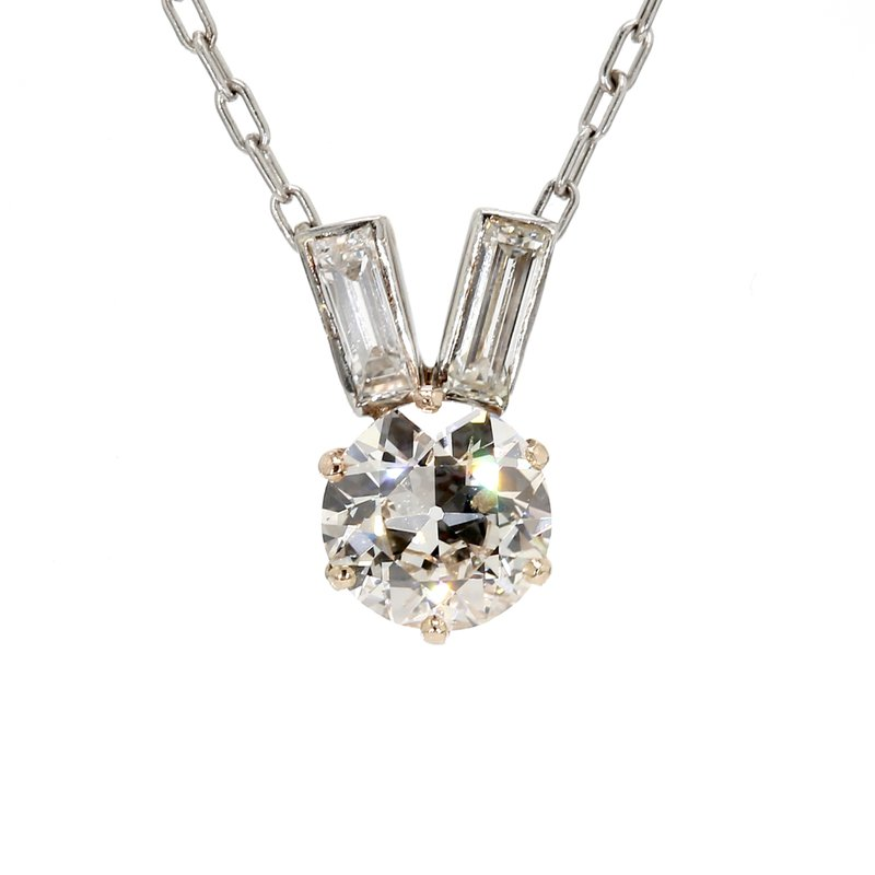 Estate Diamond Cluster Pendant