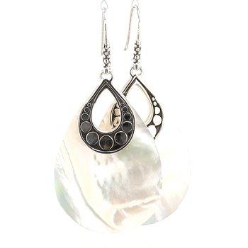 Women's Dot Silver Earrings on