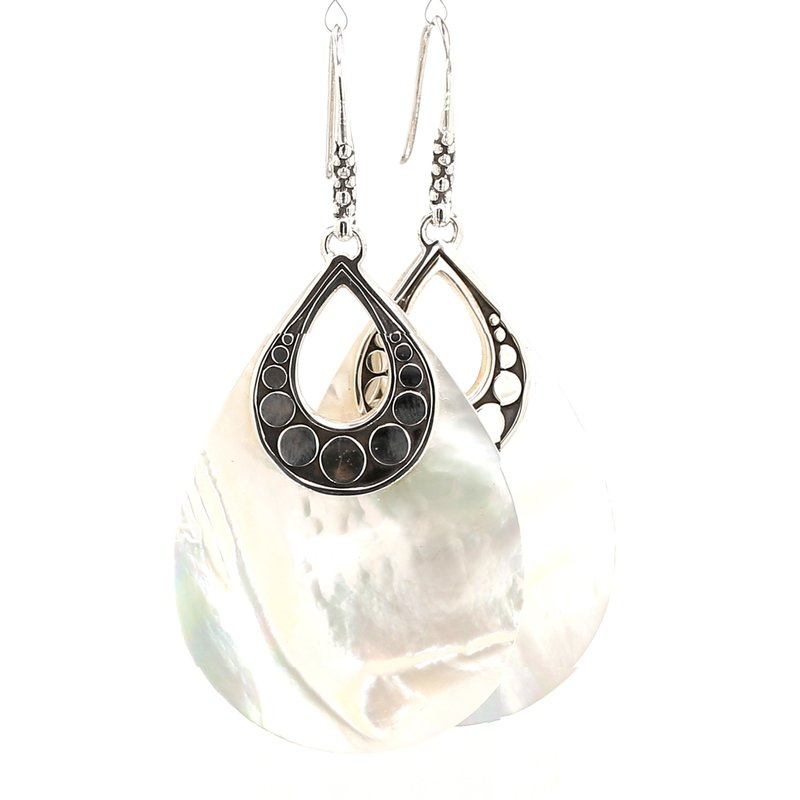 John Hardy Women's Dot Silver Earrings on