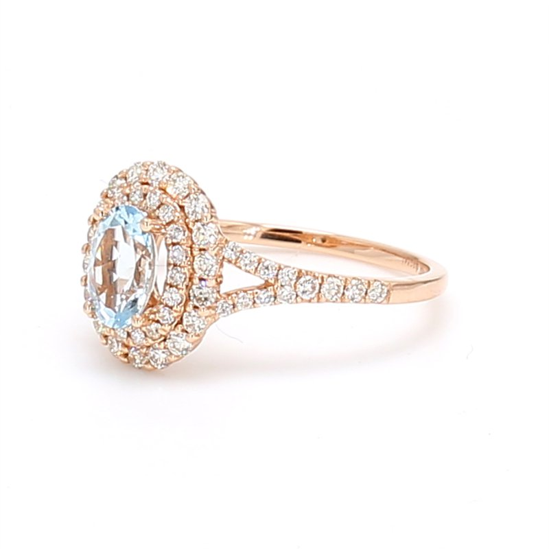 Color by Spicer Greene Aquamarine Halo Ring