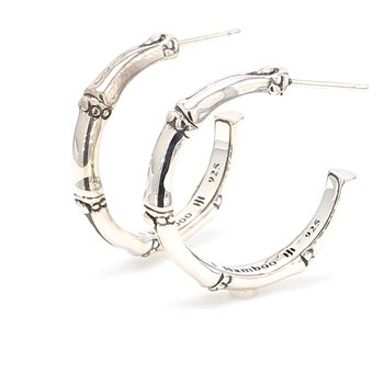 One Pair Of Bamboo Small Hoop