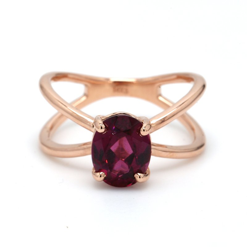 Color by Spicer Greene Solitaire Garnet Ring