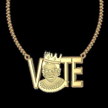 "RBG ""Vote"" Pendant (Gold)"