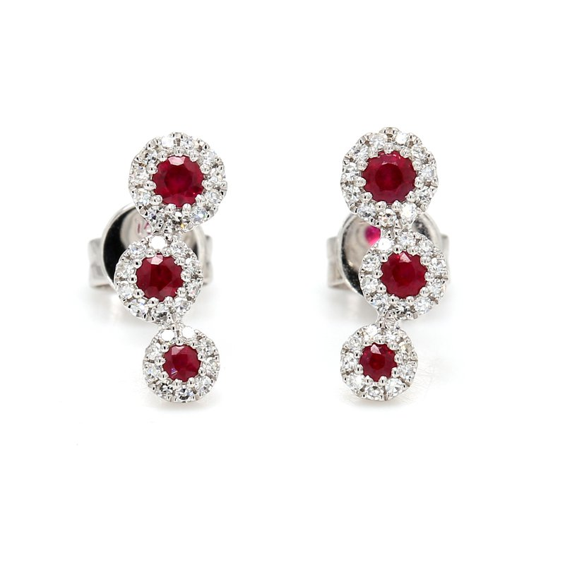 Color by Spicer Greene Ruby Stud Earrings