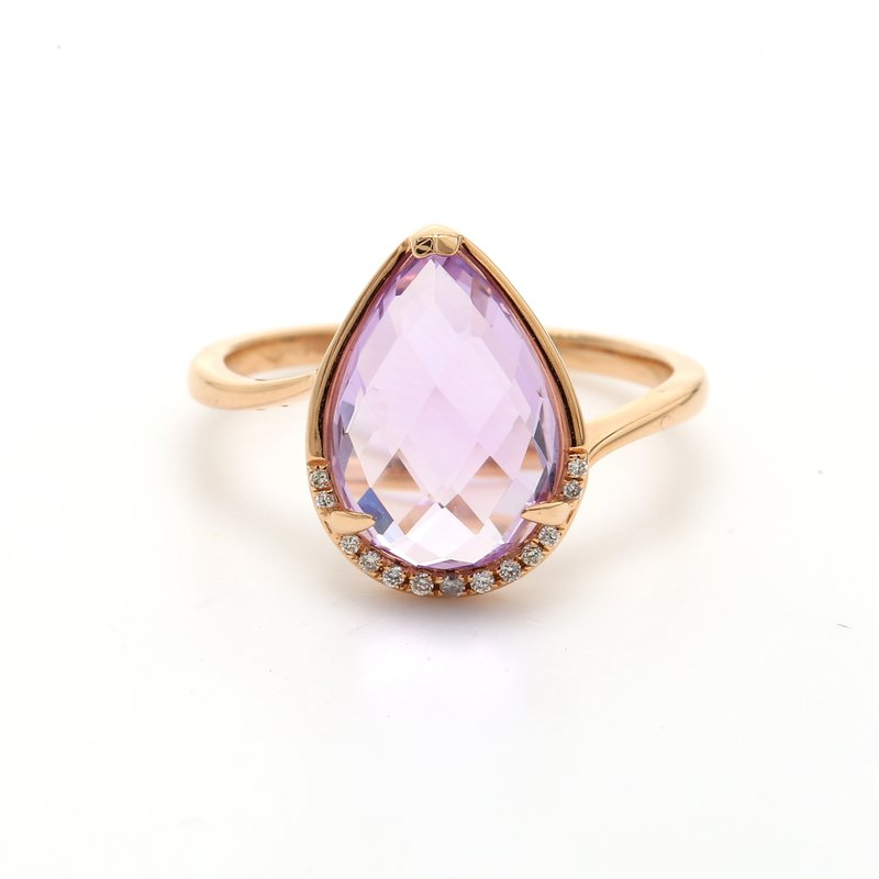 Color by Spicer Greene Amethyst Bypass Ring