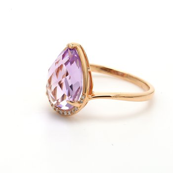 Amethyst Bypass Ring