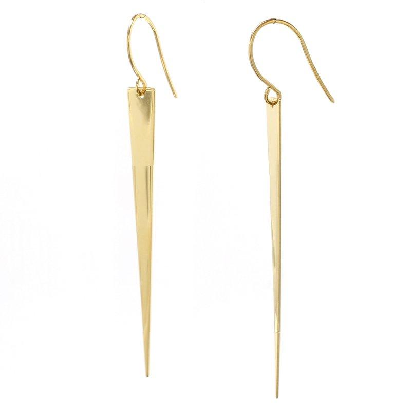 Spicer Greene Yellow Gold Drop Earrings