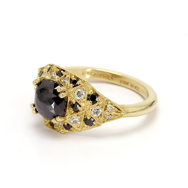 Spicer Greene Black Diamond Engagement Ring
