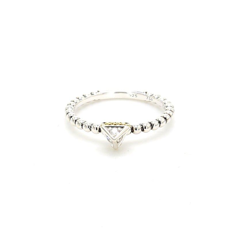 Lagos Silver Pyramid Ring
