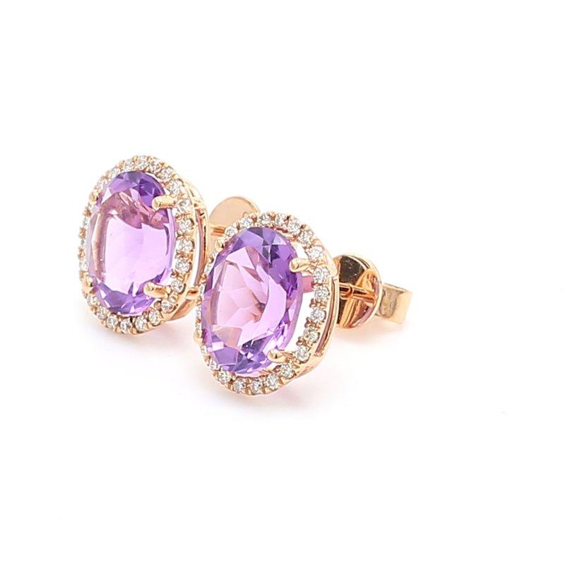 Color by Spicer Greene Amethyst Stud Earrings