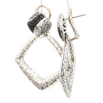 Black Sapphire Dangle Earrings