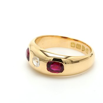 Ruby 3 Stone Ring