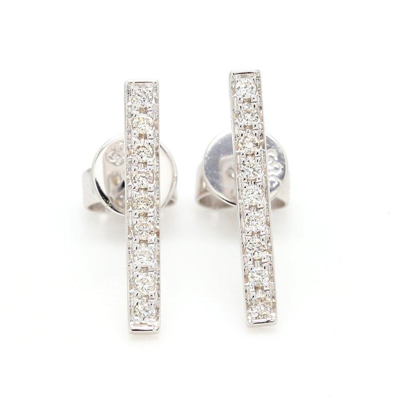 Spicer Greene Diamond Stud Bar Earrings