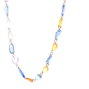 Sapphire Beaded Strand Necklace