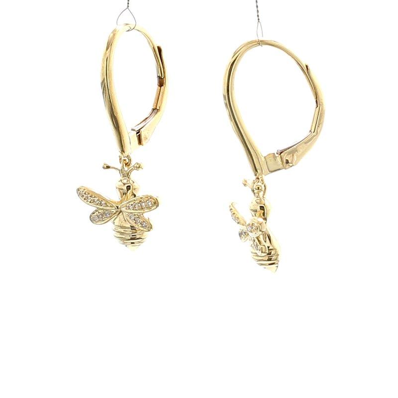 Spicer Greene Bee Diamond Dangle Earrings