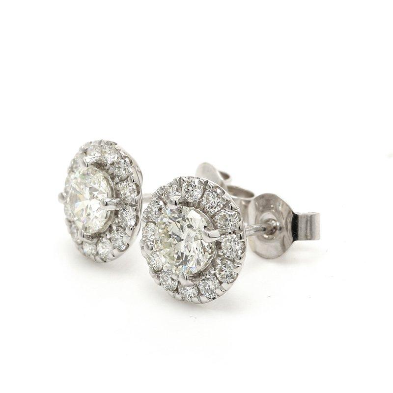 Everyday Diamonds Halo Diamond Studs