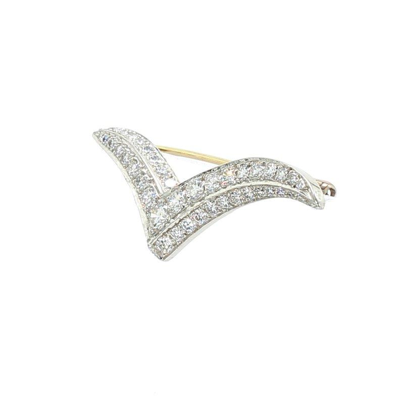 Estate Bar Diamond Pin