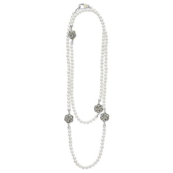 Freshwater Pearl & Love Knot Necklace