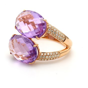 Amethyst Multi-Row Ring