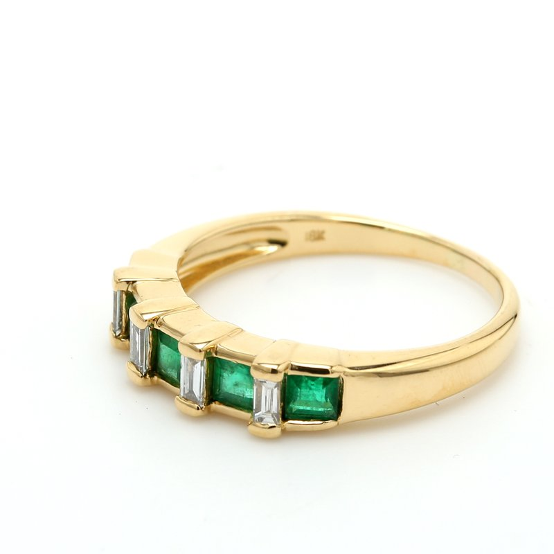 Estate Emerald Stackable Ring