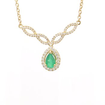 Emerald Fixed Pendant Necklace
