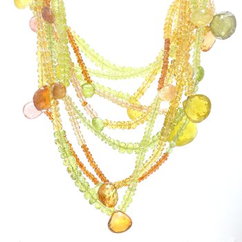 Gemstone Beaded Strand Necklace