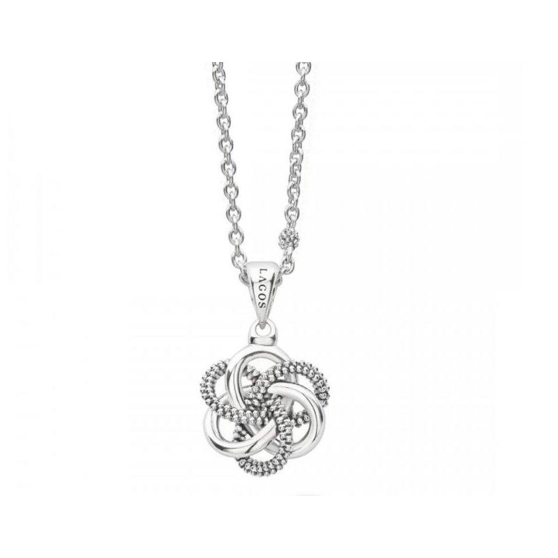 Lagos Silver Love Knot Pendant
