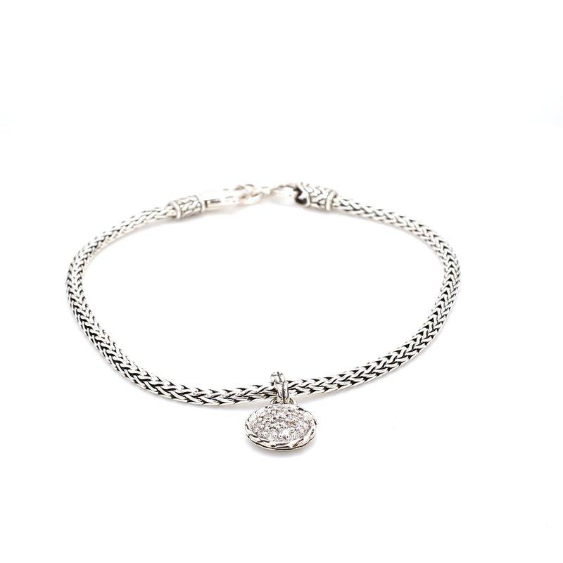 John Hardy Classic Chain Silver Bracelet with Diamonds