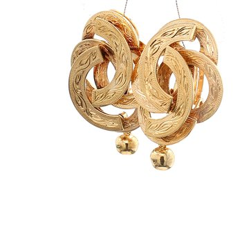 Yellow Gold Clip On Earrings