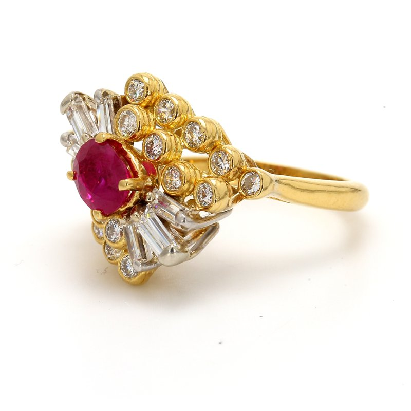 Estate Ruby Cluster Ring