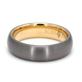 6mm 14 Karat Gold & Tantalum Wedding Band