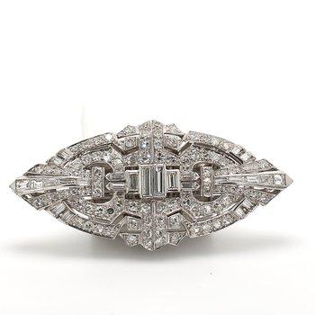 Art Deco Diamond Pin