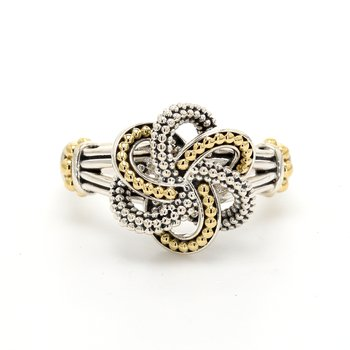 Two-Tone Love Knot Ring