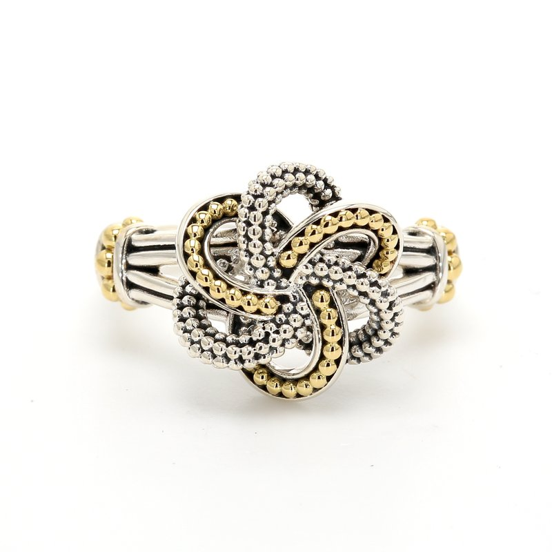 Lagos Two-Tone Love Knot Ring