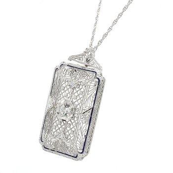 Diamond Convertible pendant / brooch