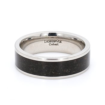 Cobalt & Dino Bone Wedding Band