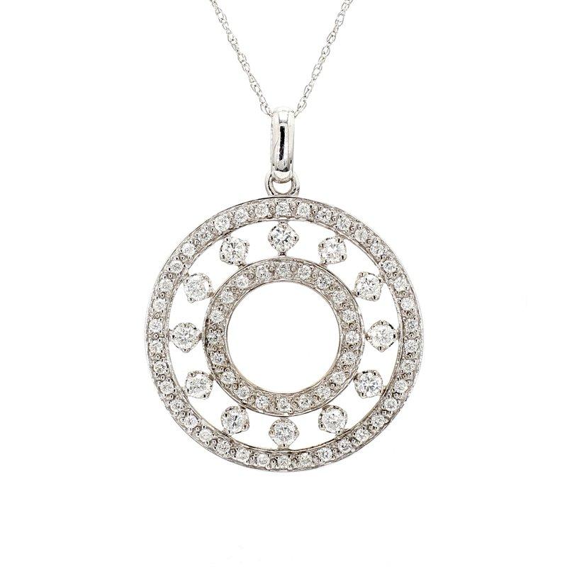 Estate Diamond Circle Pendant