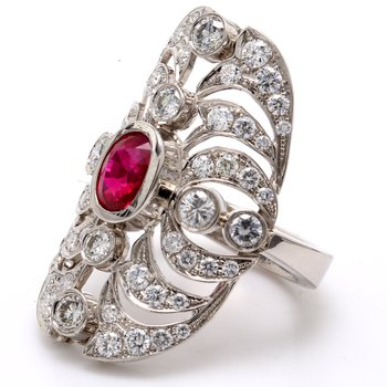 Hand Fabricated Ruby Ring