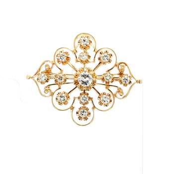 Antique Style Diamond Pin