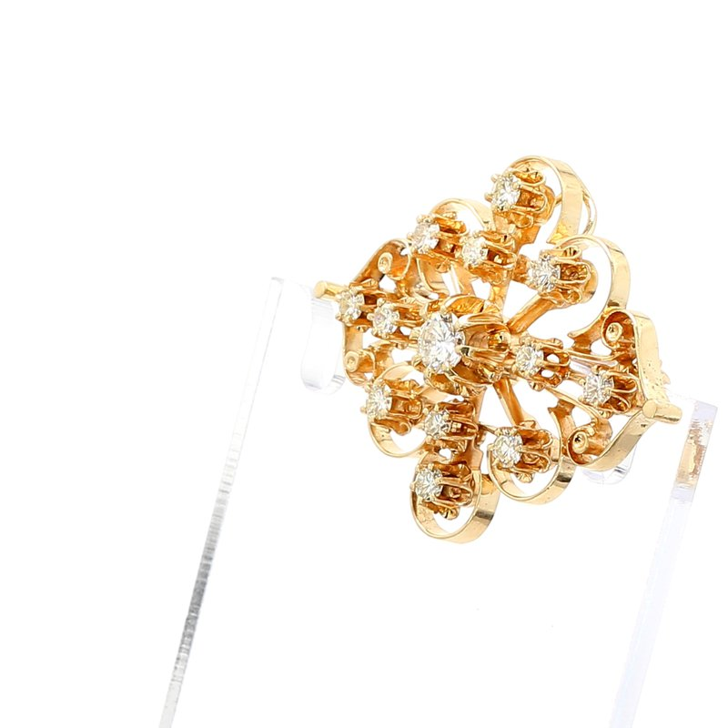 Estate Antique Style Diamond Pin