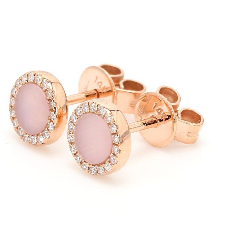Color by Spicer Greene Pink Opal Stud Earrings