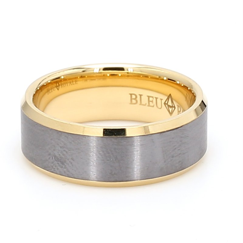 CrownRing 8mm 18 Karat Gold & Tantalum Wedding Band