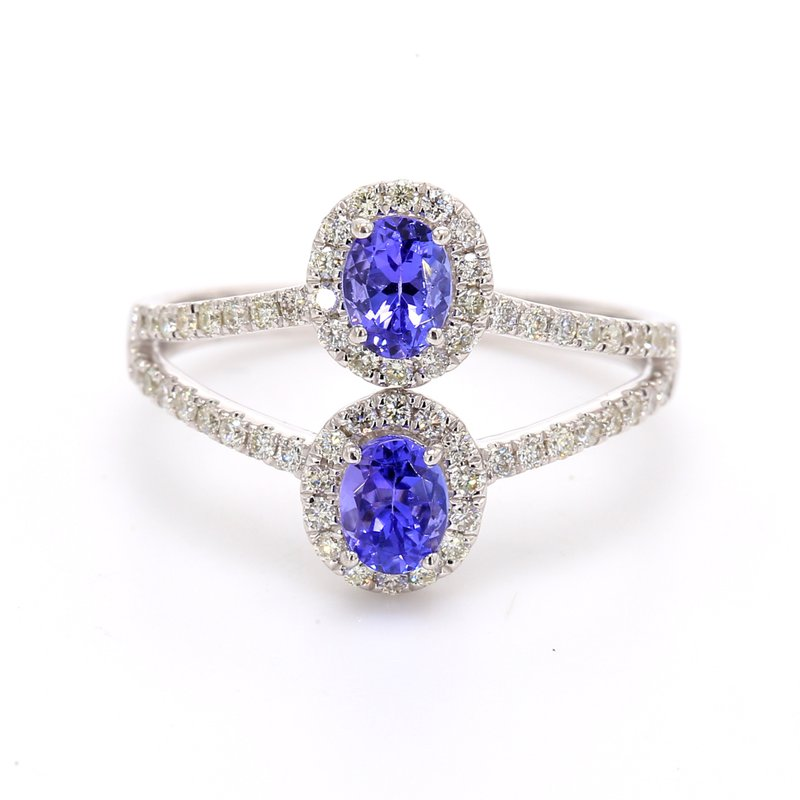 Color by Spicer Greene Tanzanite Multi-Row Ring