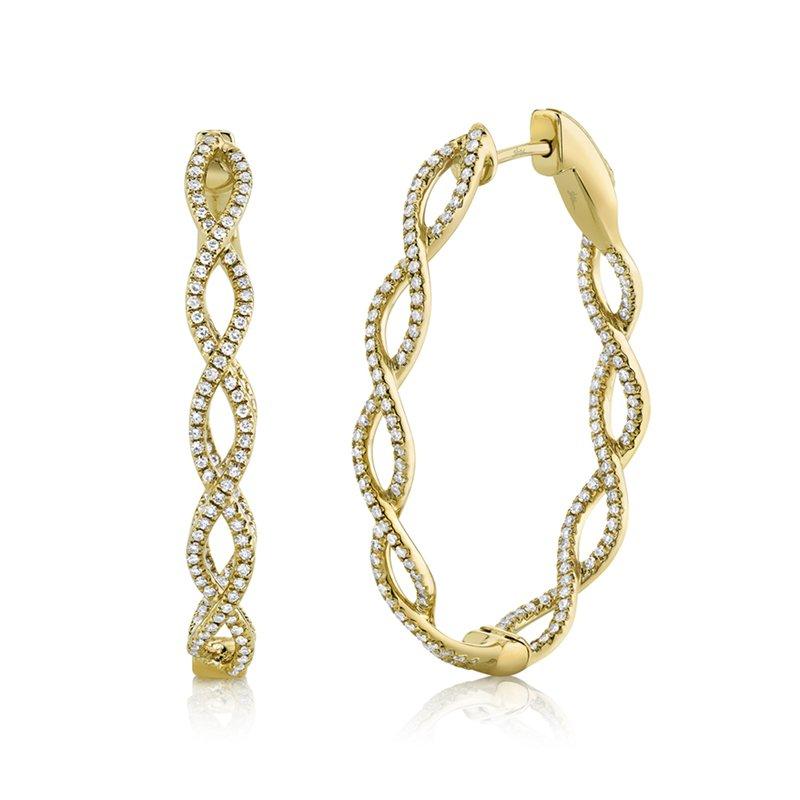 Spicer Greene Twisted Diamond Hoop Earrings