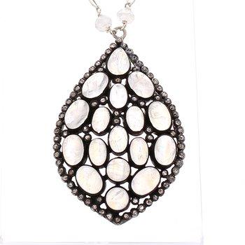 Moonstone Fixed Pendant Necklace