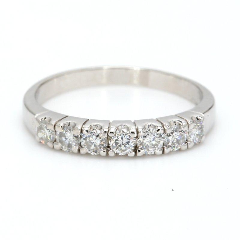 Estate 7 Stone Diamond Wedding Band
