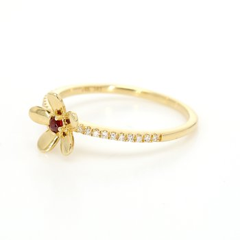 Garnet Stackable Ring