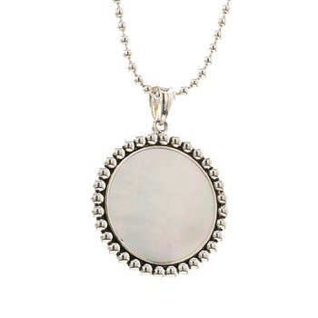 Mother of Pearl Circle Pendant